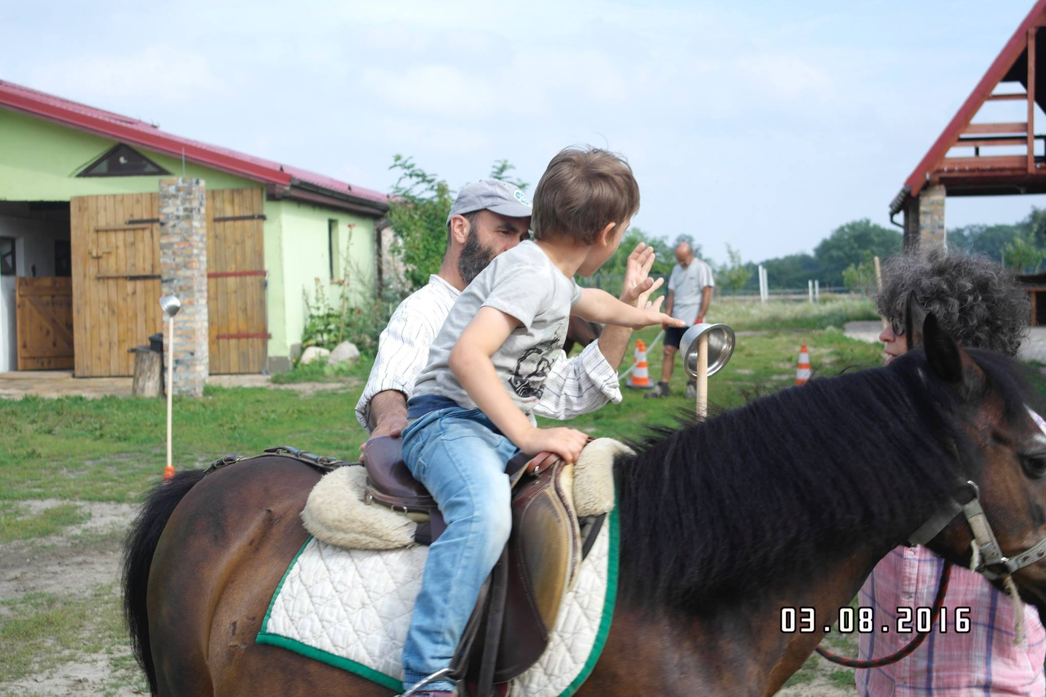playing on horses